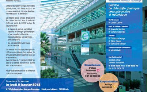 Un nouveau service de chirurgie plastique à Paris