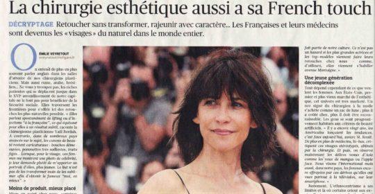 La French Touch en chirurgie esthétique – mon article dans Le Figaro du 10 mai 2017