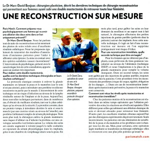 Interview du Dr Benjoar Paris Match 23 mai 2013