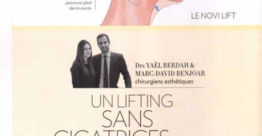 Le NoVi Lift en double page dans Paris Match